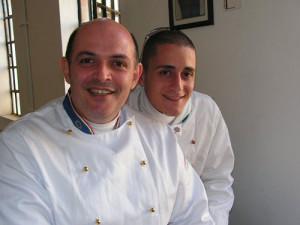 Lo chef Filippo Cogliandro ed il sous chef Giovanni Dascola