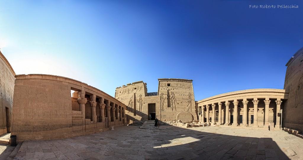 Templi di philae pano