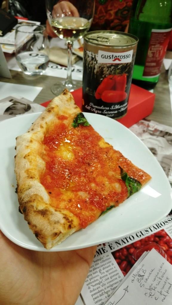 la pizza con Gustarosso