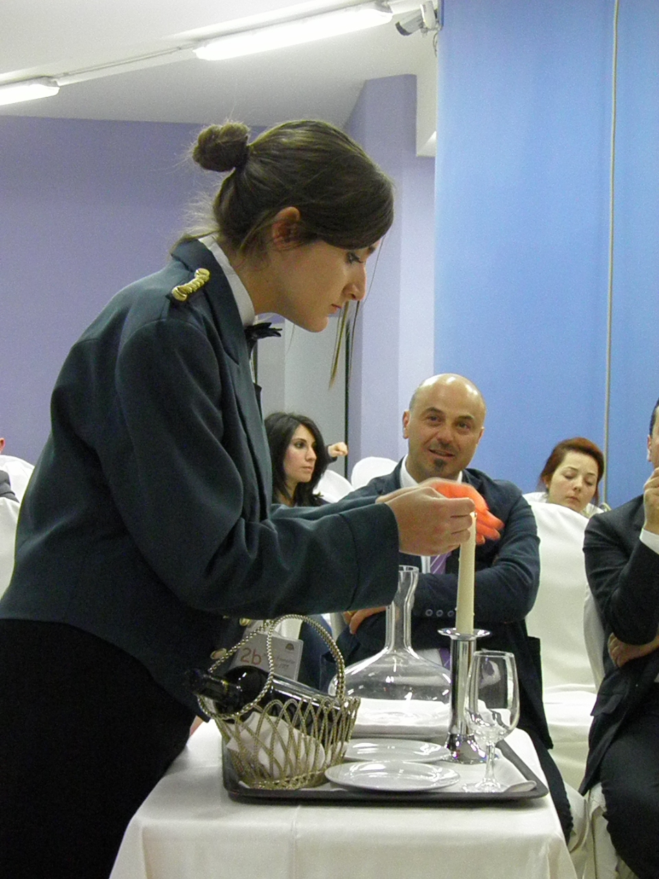 Gaetana Supino durante la prova
