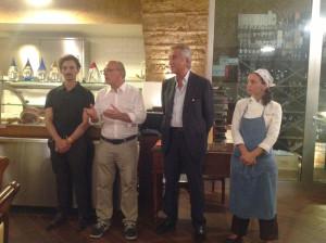 Claudio Gubitosi, Dir. Art. Giffoni Experience, Antonio Lucisano, Dir. Consorzio Mozzarella DOP, Marianna Vitale, Chef ristarante SUD