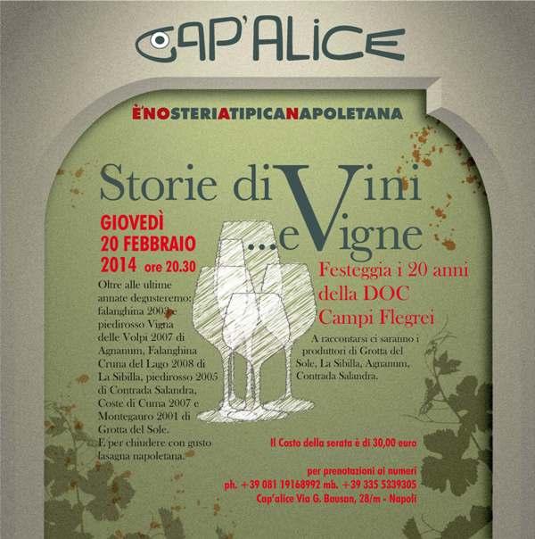 Storie di vini e vigne. A Napoli per festeggiare i 20 anni della DOC Campi Flegrei