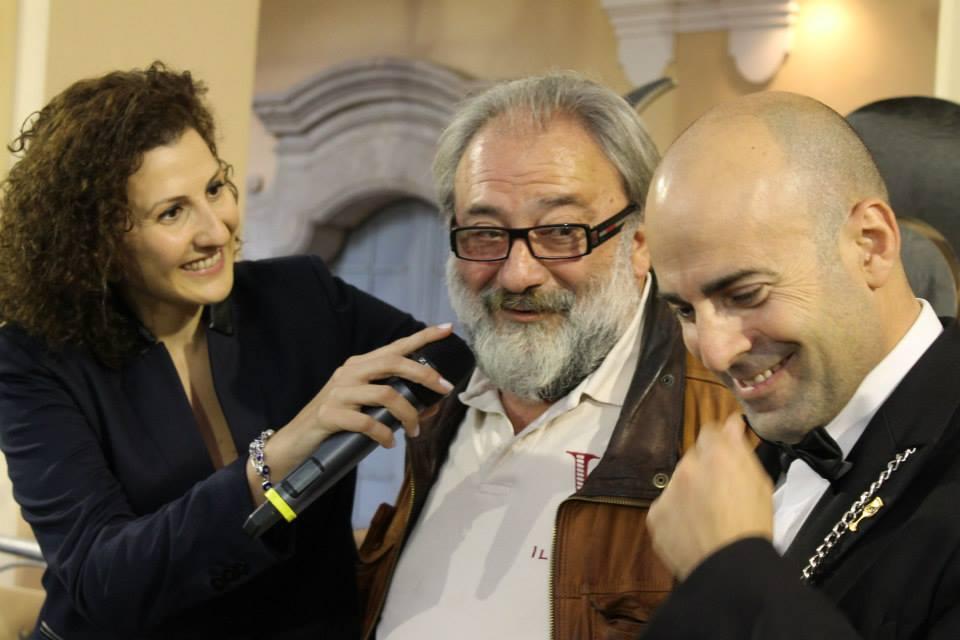 Albamarina ospite a Pianeta Bufala 2013 - da sx Antonella Petitti, Mario Notaroberto ed il sommelier Alberto Giannattasio