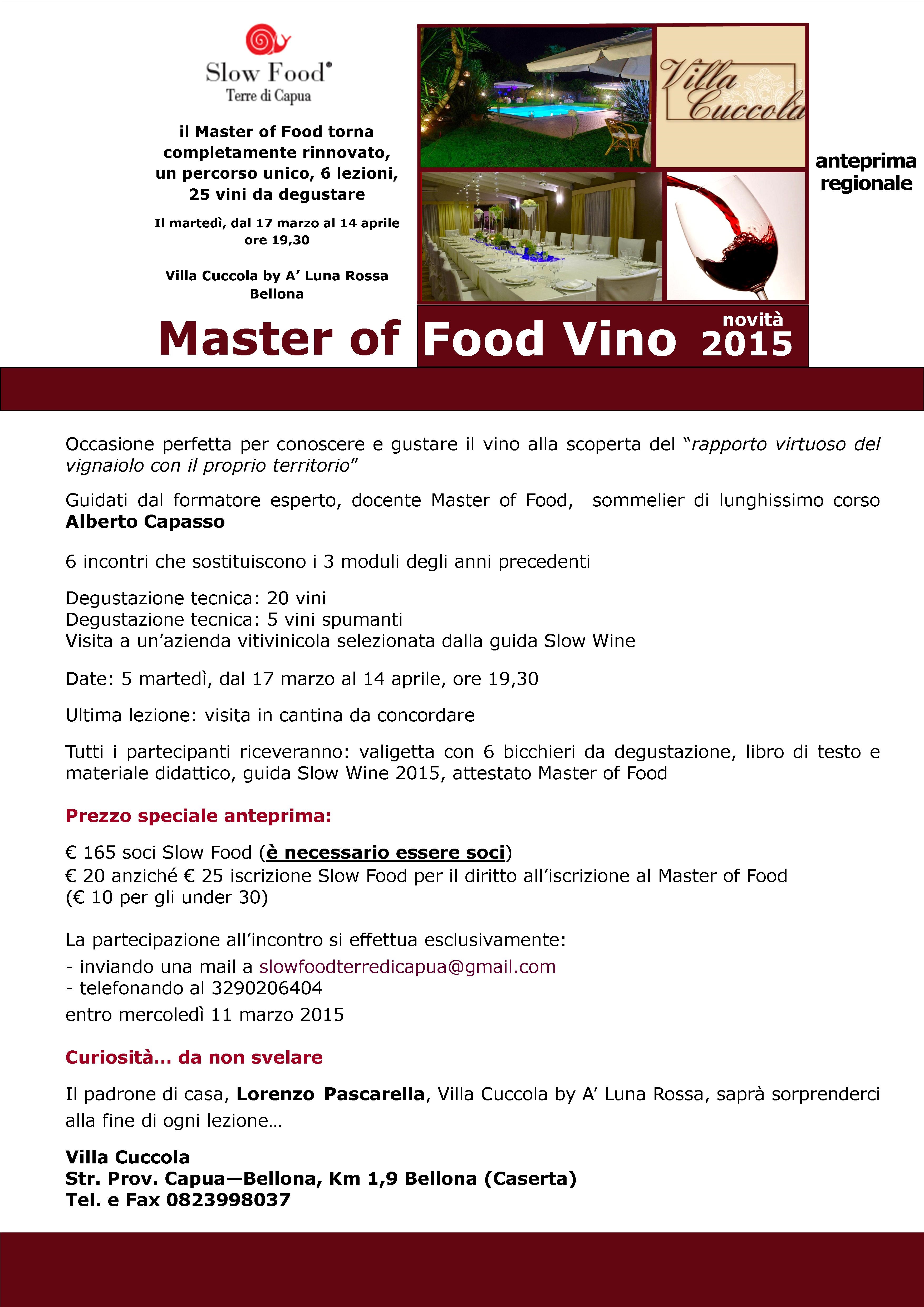 Master of Food primo in Campania