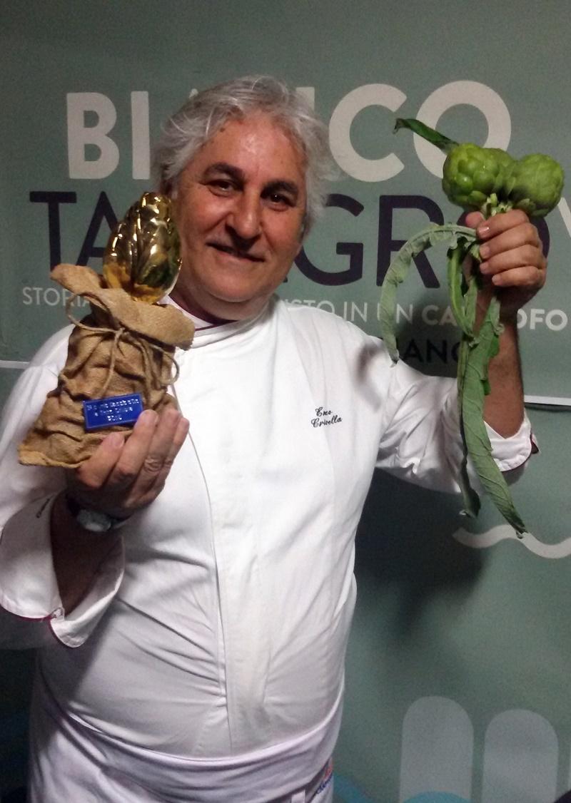 Il maestro gelatiere Enzo Crivella, carciofo d'oro 2015