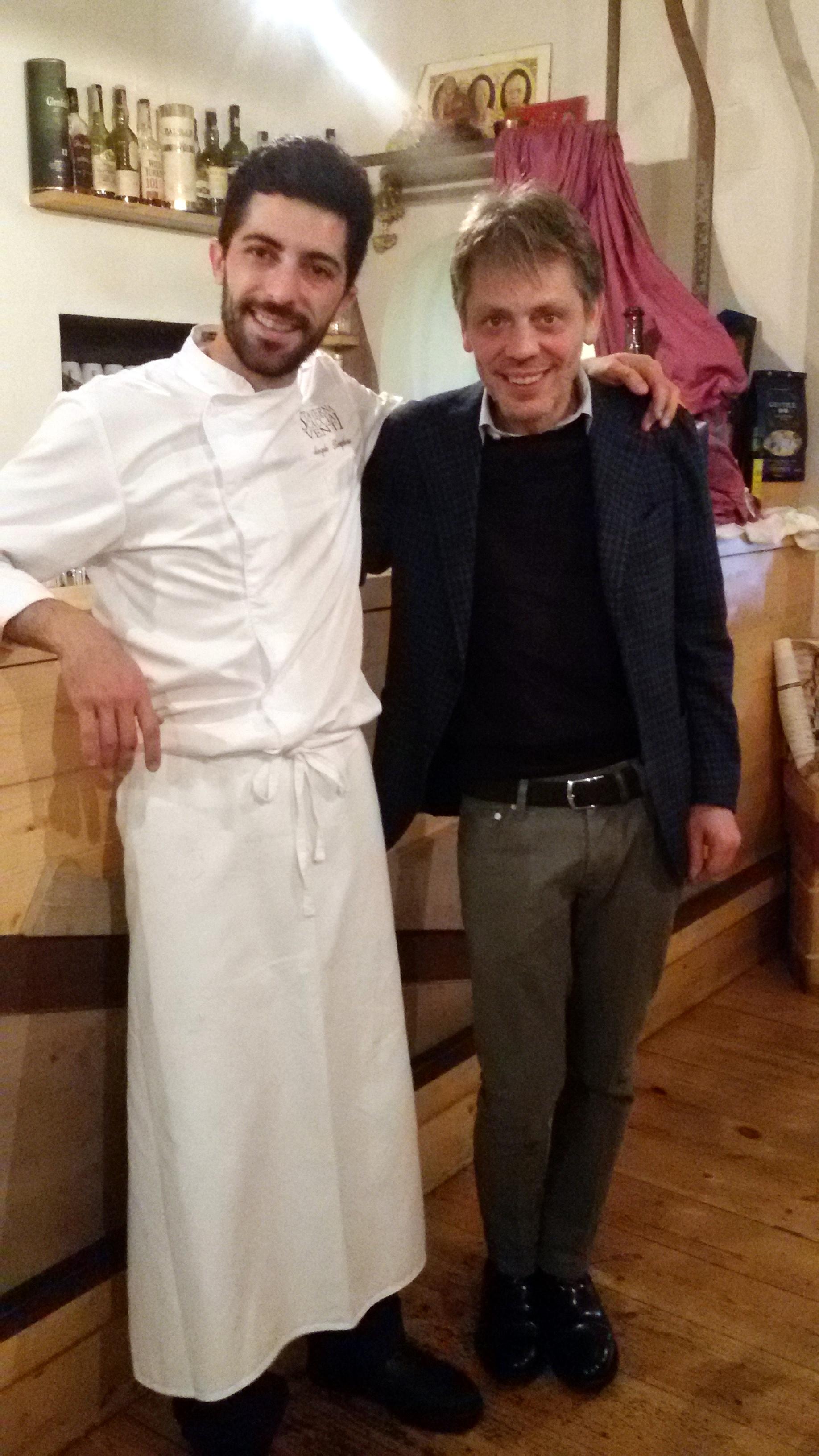 Angelo Borghese con Peppe Servillo