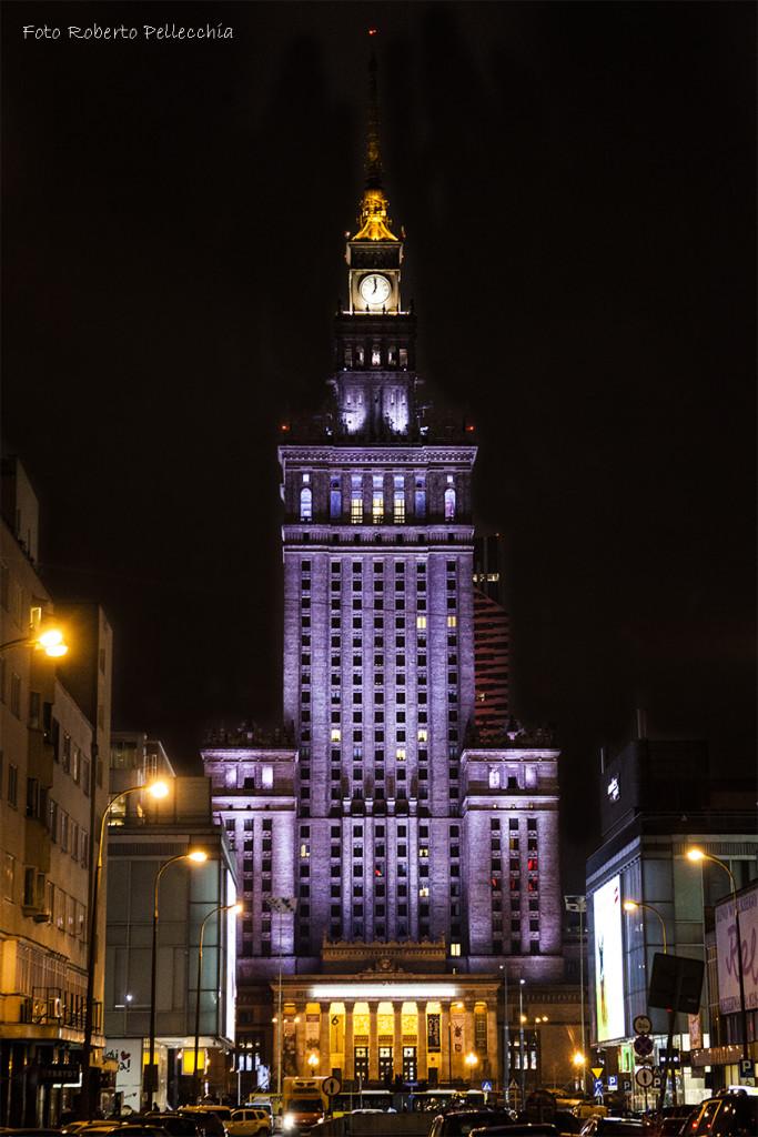 Fb15 Varsavia Palazzo della Cultura di Notte