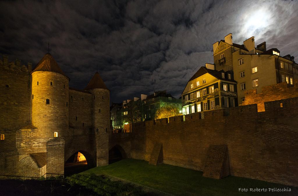 Fb26 Varsavia Castello e case di notte