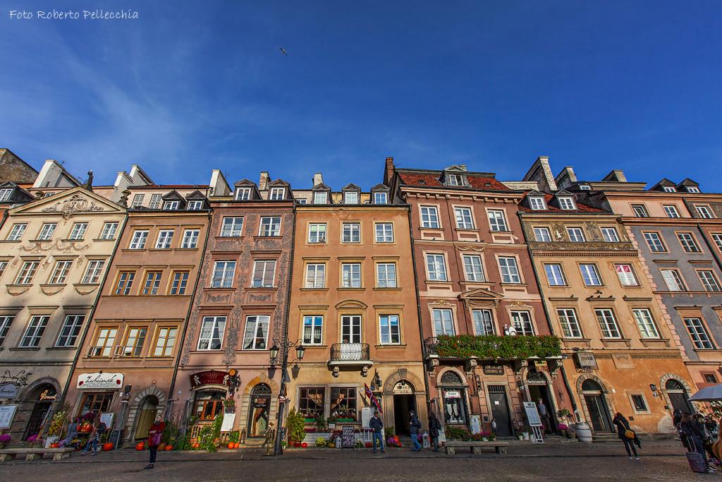 Fb29 Varsavia case della piazza del mercato col sole