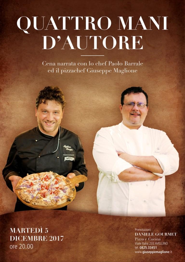 Quattro mani d'Autore. La pizza di Maglione secondo Barrale!