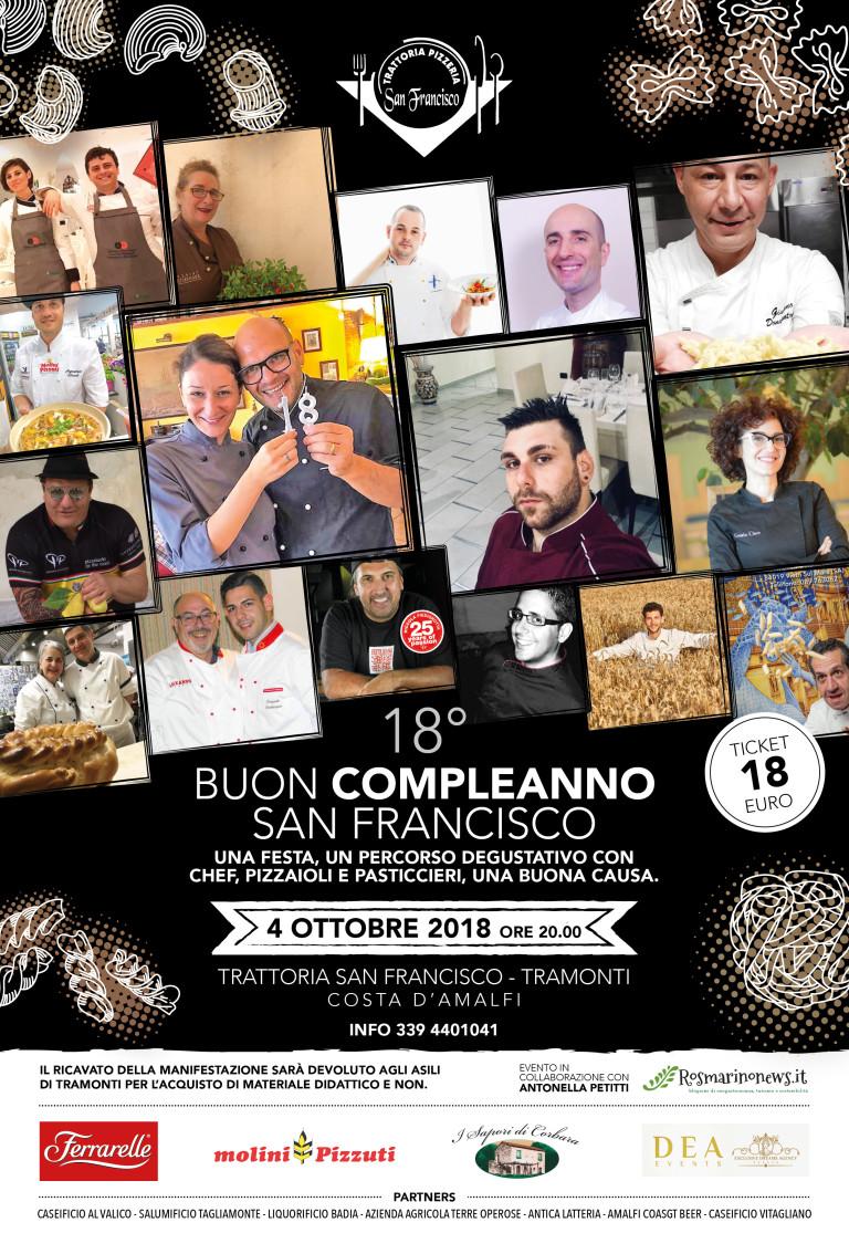 Buon compleanno San Francisco. Un percorso degustativo, una festa, un gesto di solidarietà