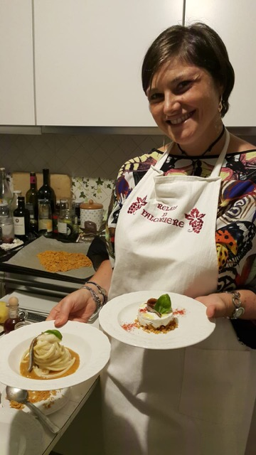 Fosca Tortorelli e i due piatti iasa experience