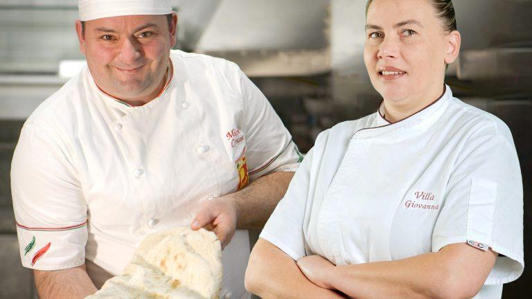 Quattro mani da Michele Croccia. La pizza vesuviana di Renata Sitko e i prodotti a Marchio Cilento