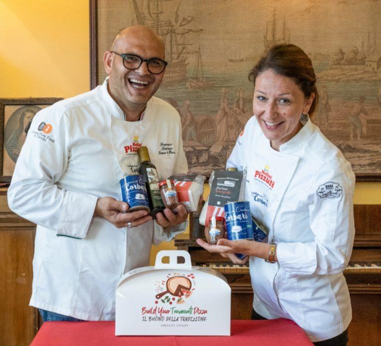 """La """"Pizza di Tramonti"""" in una bag. A firmarla Pamela Viggiano e Francesco Maiorano"""