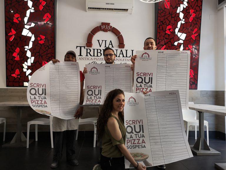 Generosa Salerno! Distribuite 250 pizze sospese a Via Tribunali da Rodolfo Sorbillo
